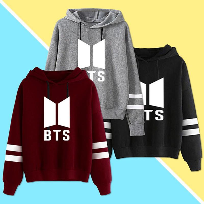 Kpop BTS Kapuzenpullover Cap Hoodie Sweater Bangtan Boys Sweatershirt Mantel