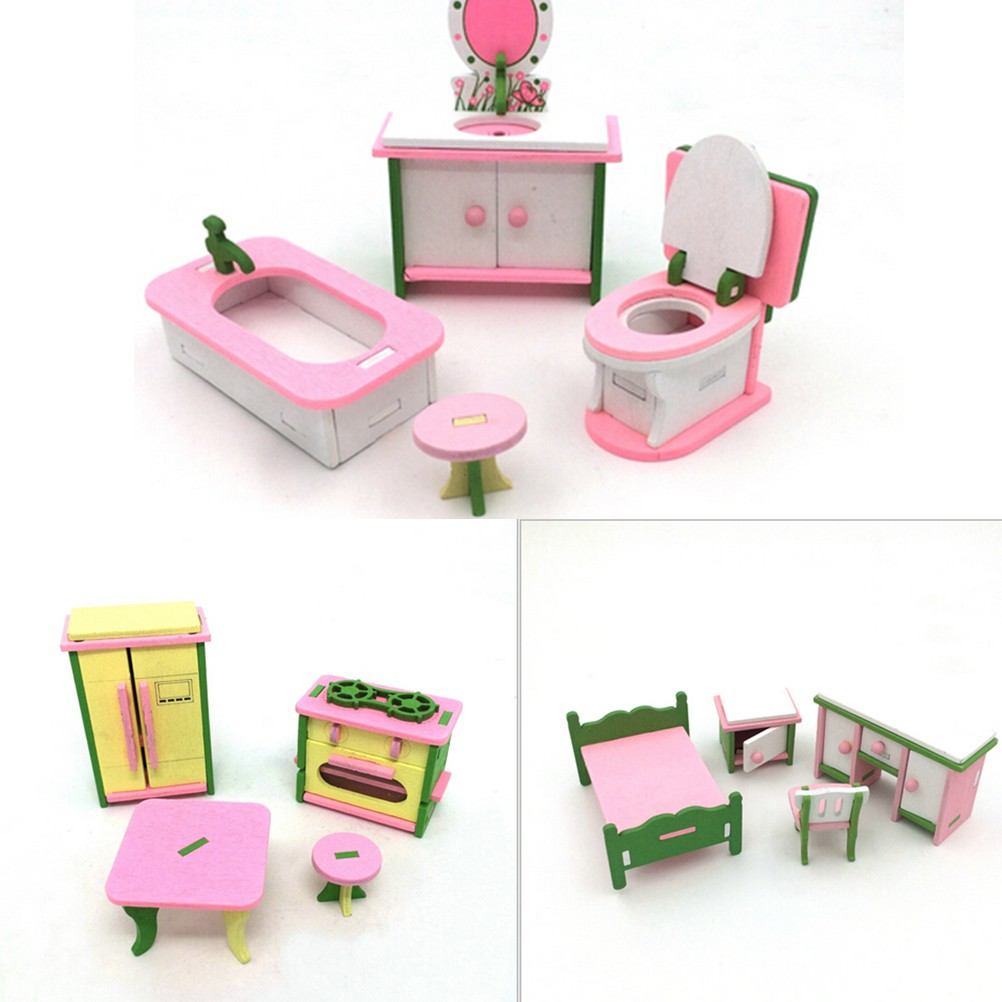 Puppenstuben & -häuser Miniature Dollhouse Accessories Siwan Scene Model Mini Three Layer Dessert AB