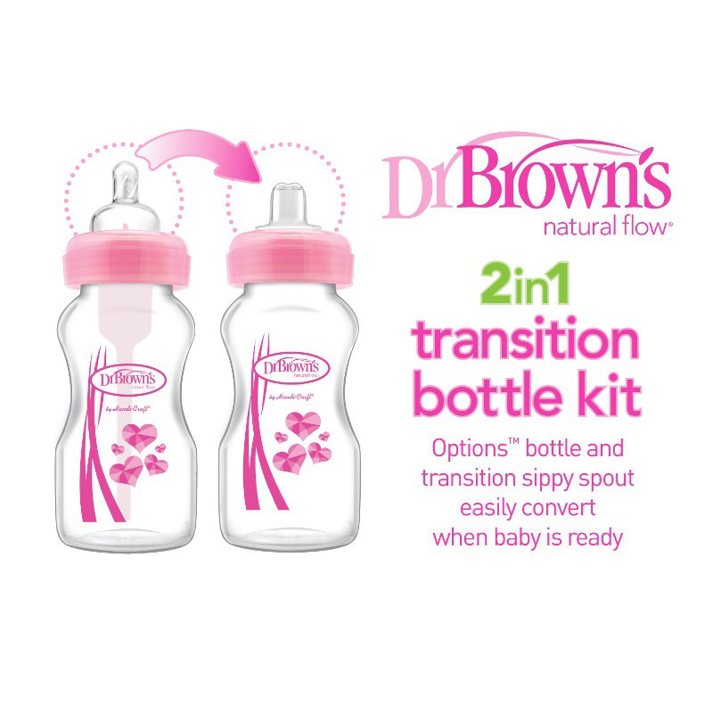 Dr Brown/'s Wide-Neck Transition Sippy Spouts 2-Piece Free Shipping!