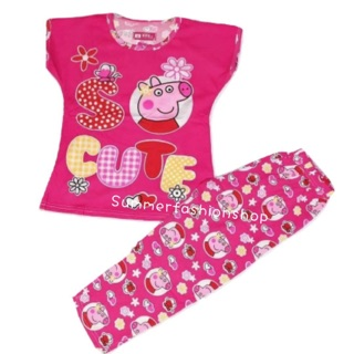 86eb52967 Peppa Pig Cotton Kids Pajama Terno