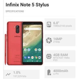 Infinix X605 Note 5 Stylus 4GB RAM 64GB ROM | Shopee Philippines