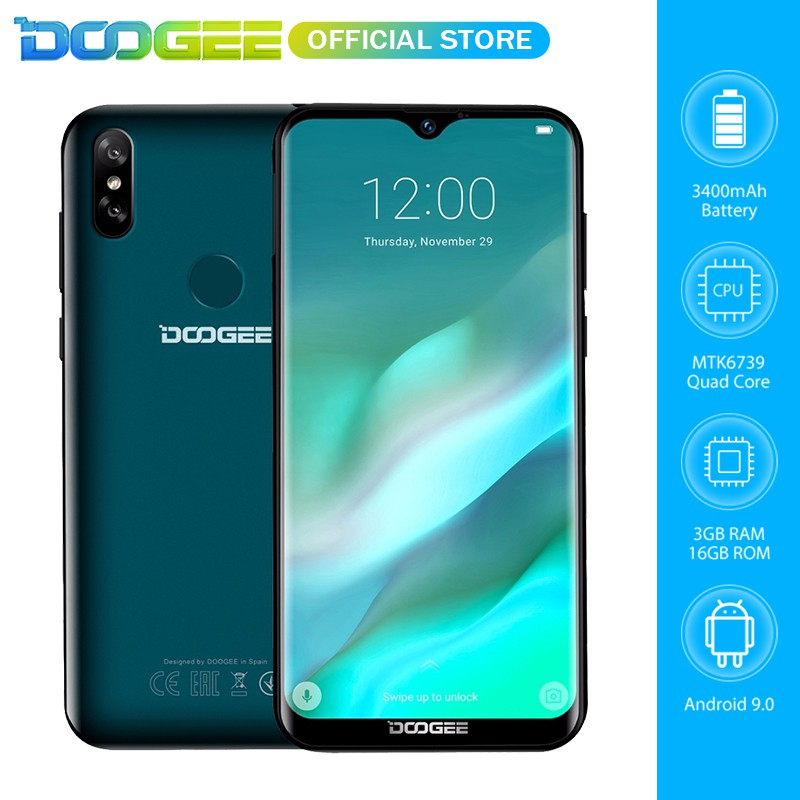 DOOGEE Y8 3GB RAM 16GB ROM Android 9 0 4G Network 6 1