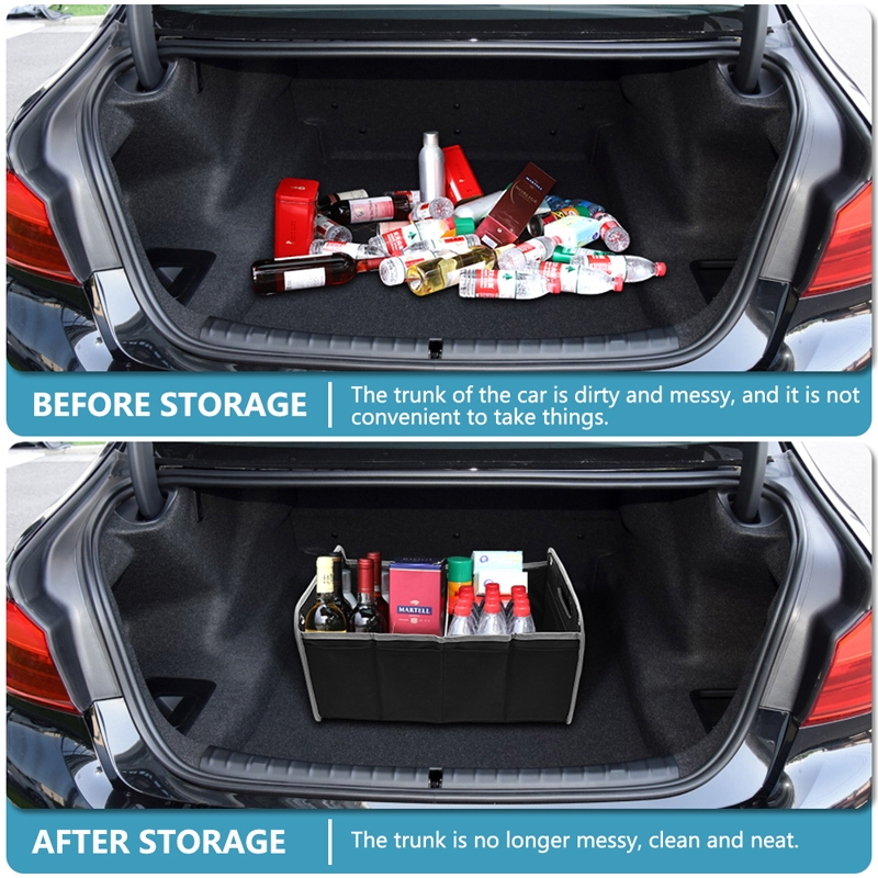 For Mercedes Benz Car Trunk Foldable Large Capacity Vehicle Organizer Storage Box M Performance Logo Car Styling Organizer Box Shopee Philippines