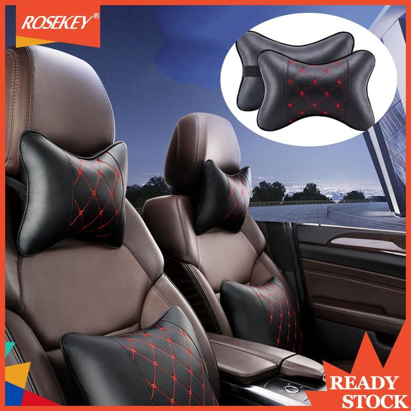 【Rosekey】Car PU Headrest Seat Neck Pillow head pillows Lumbar support pillow car seat headrest 1pcs TZ002
