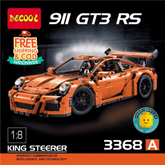 In Stock Decool 3368a Technic Porsche 911 Gt3 Rs Orange Shopee Philippines