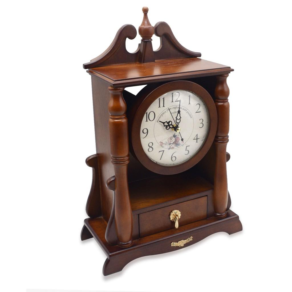 Classic Table Top Pendulum Clock (Brown)