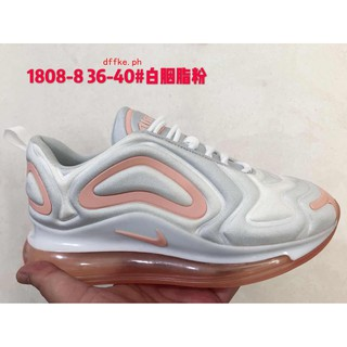 NIKE AIR MAX 720 full palm sneakers white rouge powder