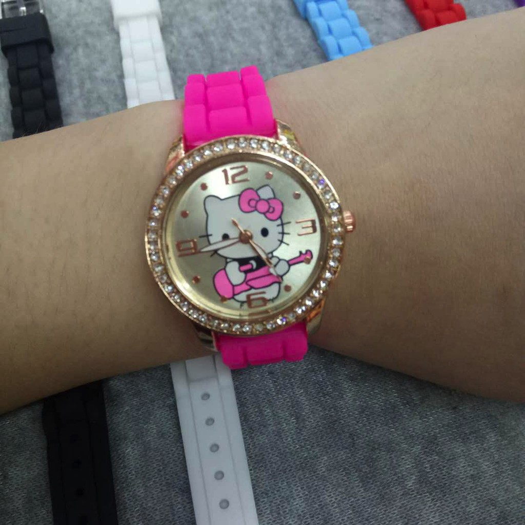 e978ac06f ProductImage. ProductImage. cod 10 colors single/couple hello kitty watch  ...
