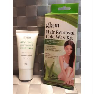 Glam Works Hair Removal Cold Wax Kit Shopee Philippines