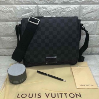 for sale complete in specifications custom LV Louis Vuitton Men Mens Messenger Bag Sling Bag Small