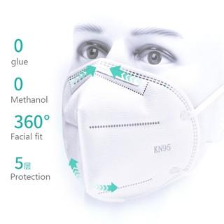 Anti Fog Dust Mask Ffp2 , Foldable Face Mask Elastic Ear
