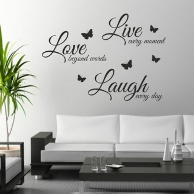 Live Laugh Love Wall Sticker Word Lettering Vinyl Decal