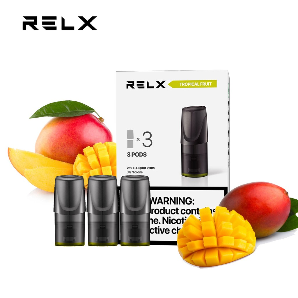 RELX 3 in 1 Relx Pods MANGO / TROPICAL FRUIT Electric Cigarette ...