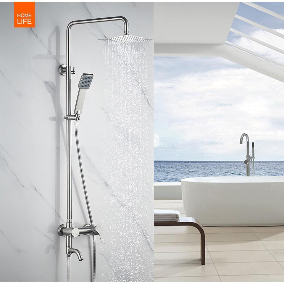 Bathroom Shower Faucet Set Rainfall Shower Head Tub Spout Sink Single Handle Mixer Tap 3 Way Bath Shower Faucets A830130 Shopee Philippines