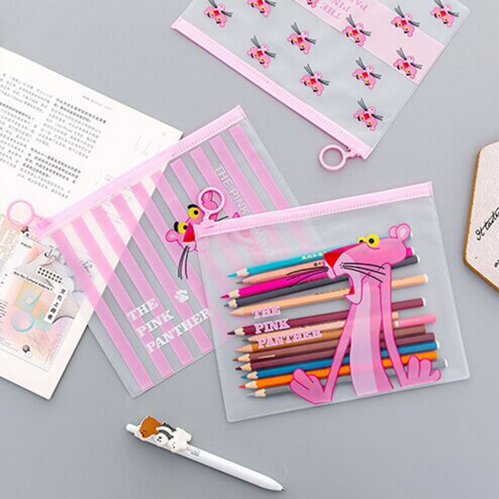 Big Capacity Pig Document Bag File Folder Cute Pvc Unicorn Pink Leopard Cactus Pen Bag Pencil Case School Supplies At Any Cost Filing Products
