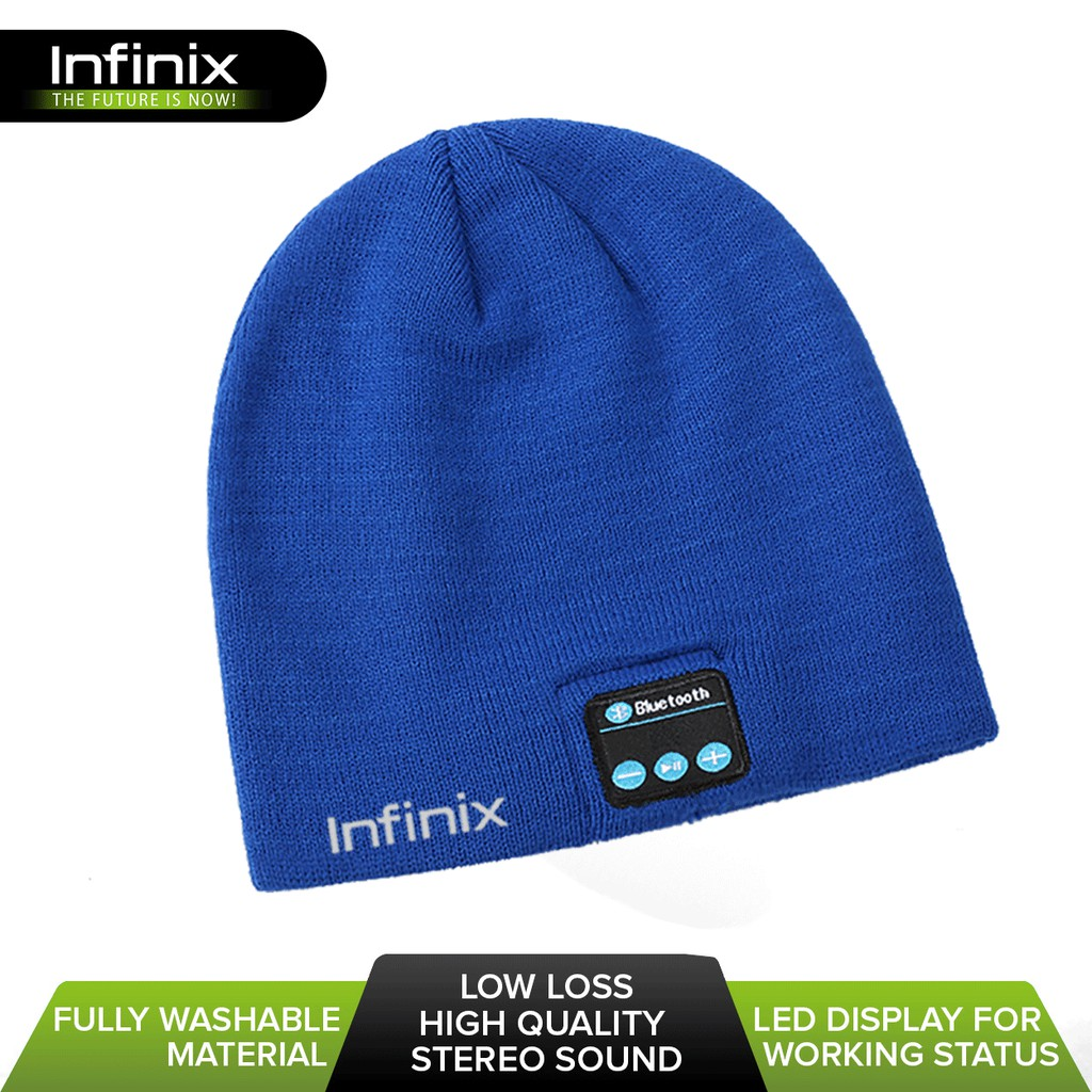 Infinix XH02 Fashion Music Bluetooth Cap (Blue)