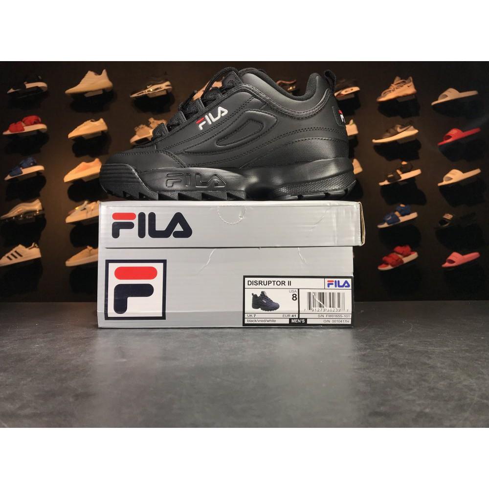 4316c153 Original Fila FS1HTA1075X PNK 2 generation destroyer pure black ladies  increased casual shoes