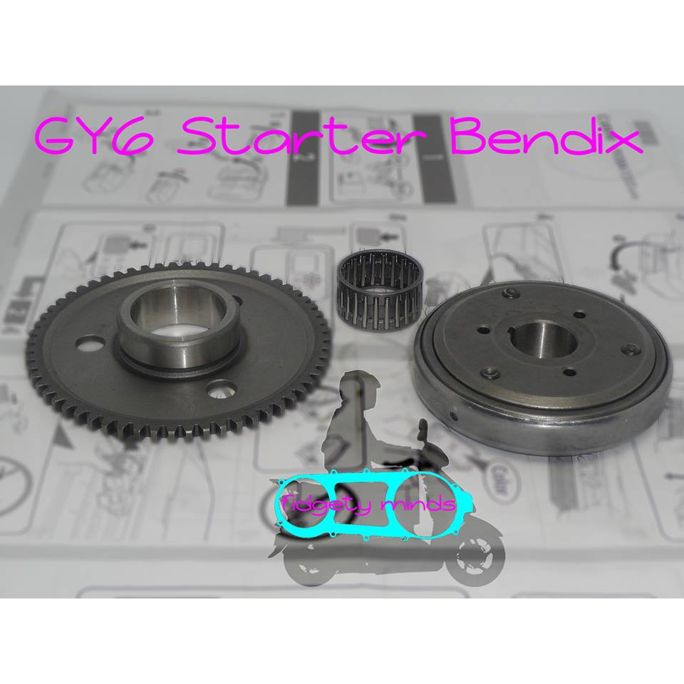 Starter Bendix GY6 for 125cc and 150cc