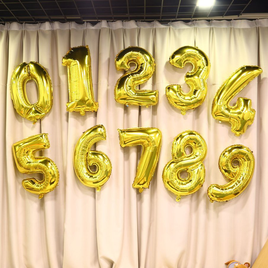 30 Inch Foil Mylar Balloons For Wall Decoration Number