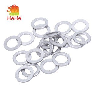 20pcs M12 Oil Drain Bolt Crush Washer Spacer Gasket Sealing Ring Kit For Honda