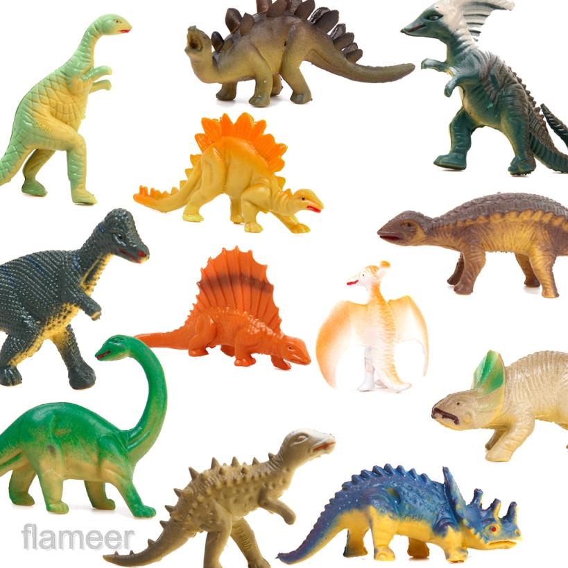 6 x Plastic Realistic Dinasours Assorted Models Animal Figure Toy Teaching Props