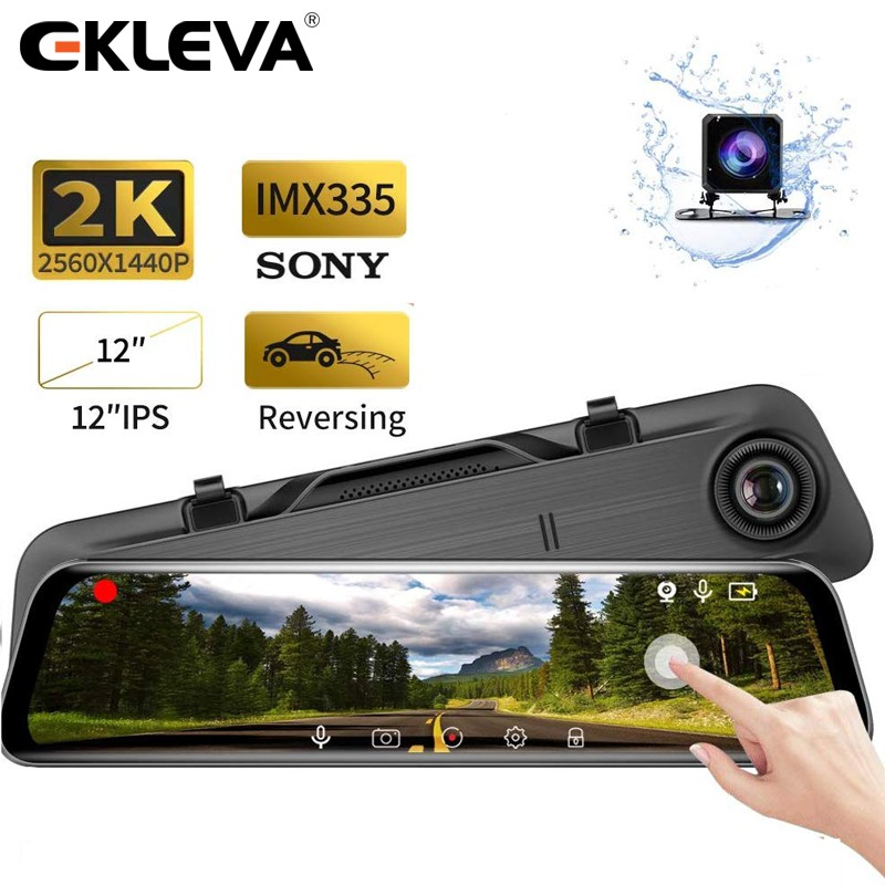 Mirror Dash Cam 10 Backup Camera 170/° 1080P Front and 170/° 1080P Rear View Camera Dual Lens Full Touch Screen Video Streaming Mirror Camera with Night Vision,24Hs Parking Monitor