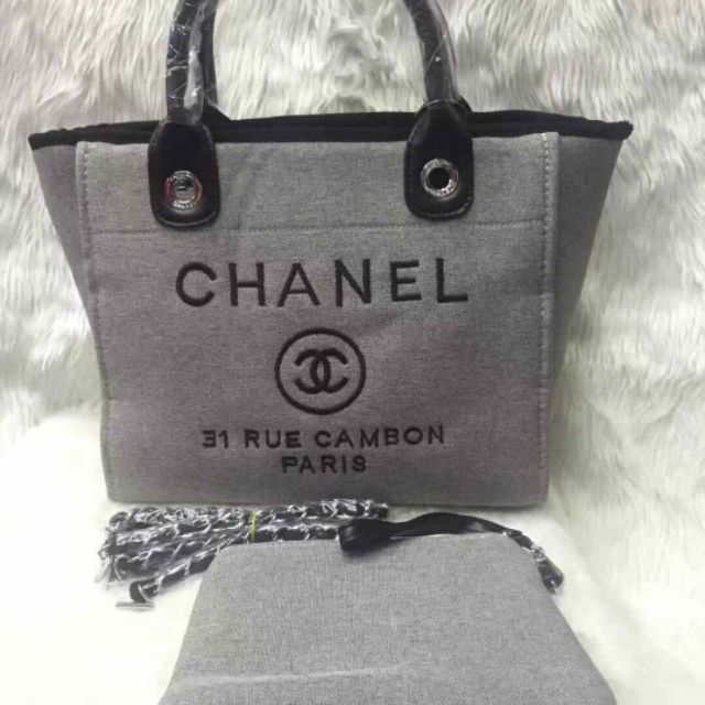 8d59b776bbcb Chanel 2018 Deauville Rue Cambon Tweed Bag | Shopee Philippines