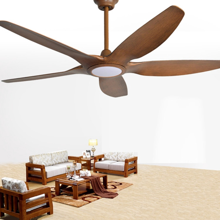 Industrial 66 Inch 5 Blade Ceiling Fan Nordic Large Country Industrial Ceiling Fan With Lighting And Remote Control Chan Shopee Philippines
