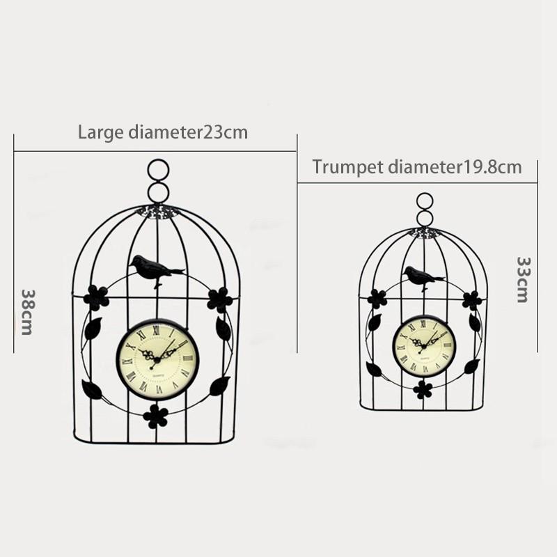 Bird Cage Clock Vintage Antique Style