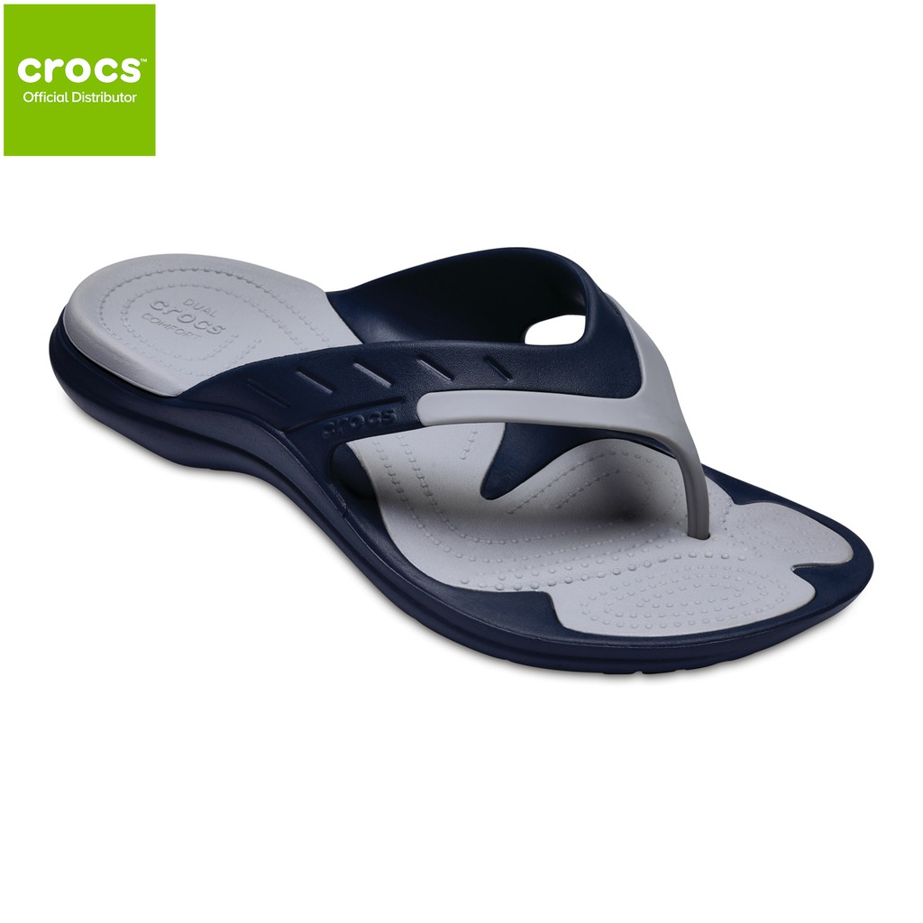 720c067cb77b Crocs Unisex MODI Sport Flip Navy Light Grey