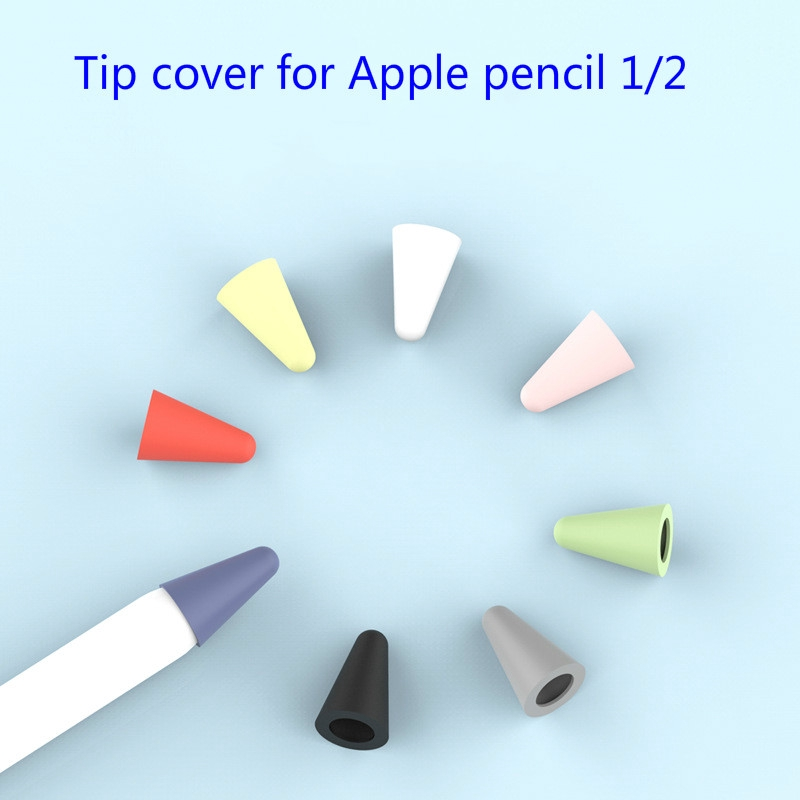 8PCS Apple Pencil Extra Tips Replacement Stylus Pen Nibs For Apple Pencil Series