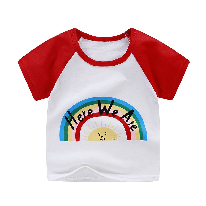 Children S Summer Korean Cotton Print T Shirt Boy Girl Short Sleeve T Shirt Cartoon Avatar Ins Style Baby Clothing Shopee Philippines