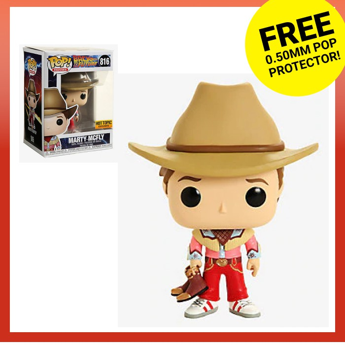 FUNKO POP MARTY MCFLY COWBOY 816 HOT TOPIC o SPECIAL EXCLUSIVE BACK FUTURE