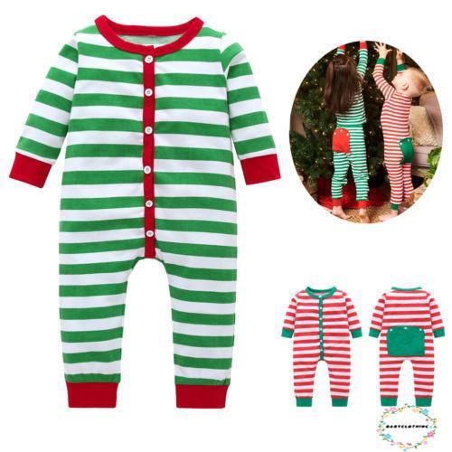 Boys Christmas Pajamas.Bob Red Green Stripe Baby Girls Boys Christmas Pajamas Set
