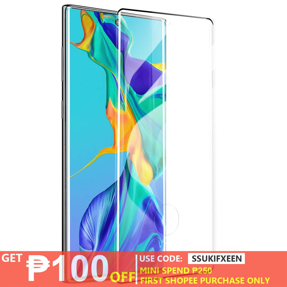 Samsung Galaxy Note 10+ Pro Note 10 Tempered Glass Full Screen Protector  Support Fingerprint Sensor