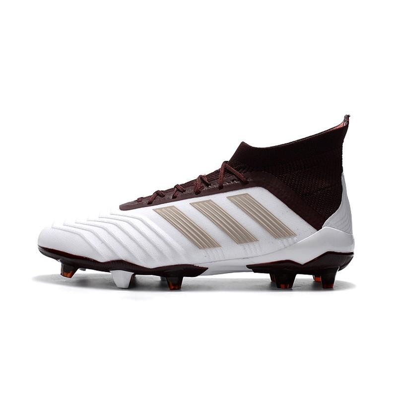adidas Predator 18.1 FG maroon white mens high mesh soccer football shoes 39 45