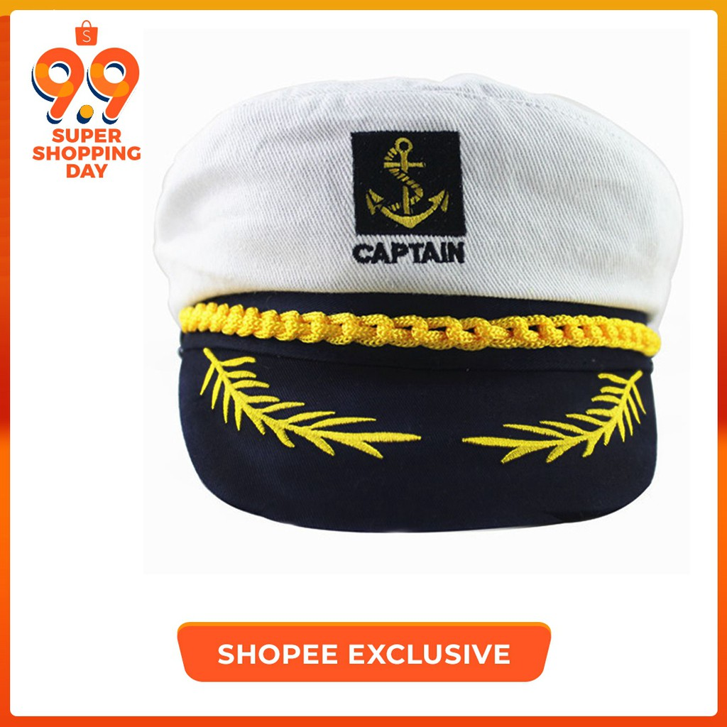 4e4c51ab10f23 Sailor Yacht Costume Captain Navy Cap Military Nautical Hat