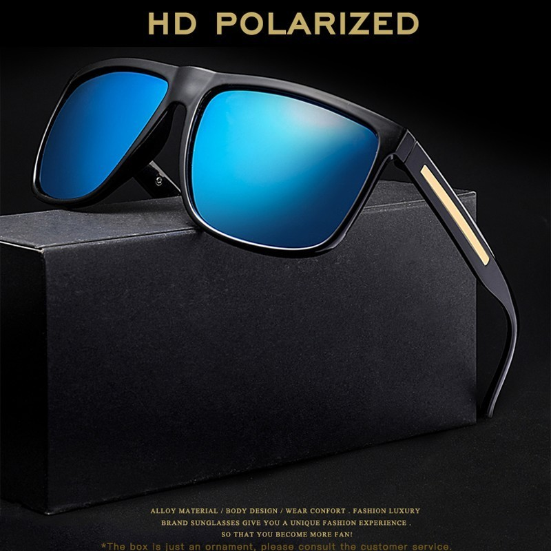 0ce3167116aac Square Vintage Polarized Sunglasses Men Polaroid Sun Glasses ...