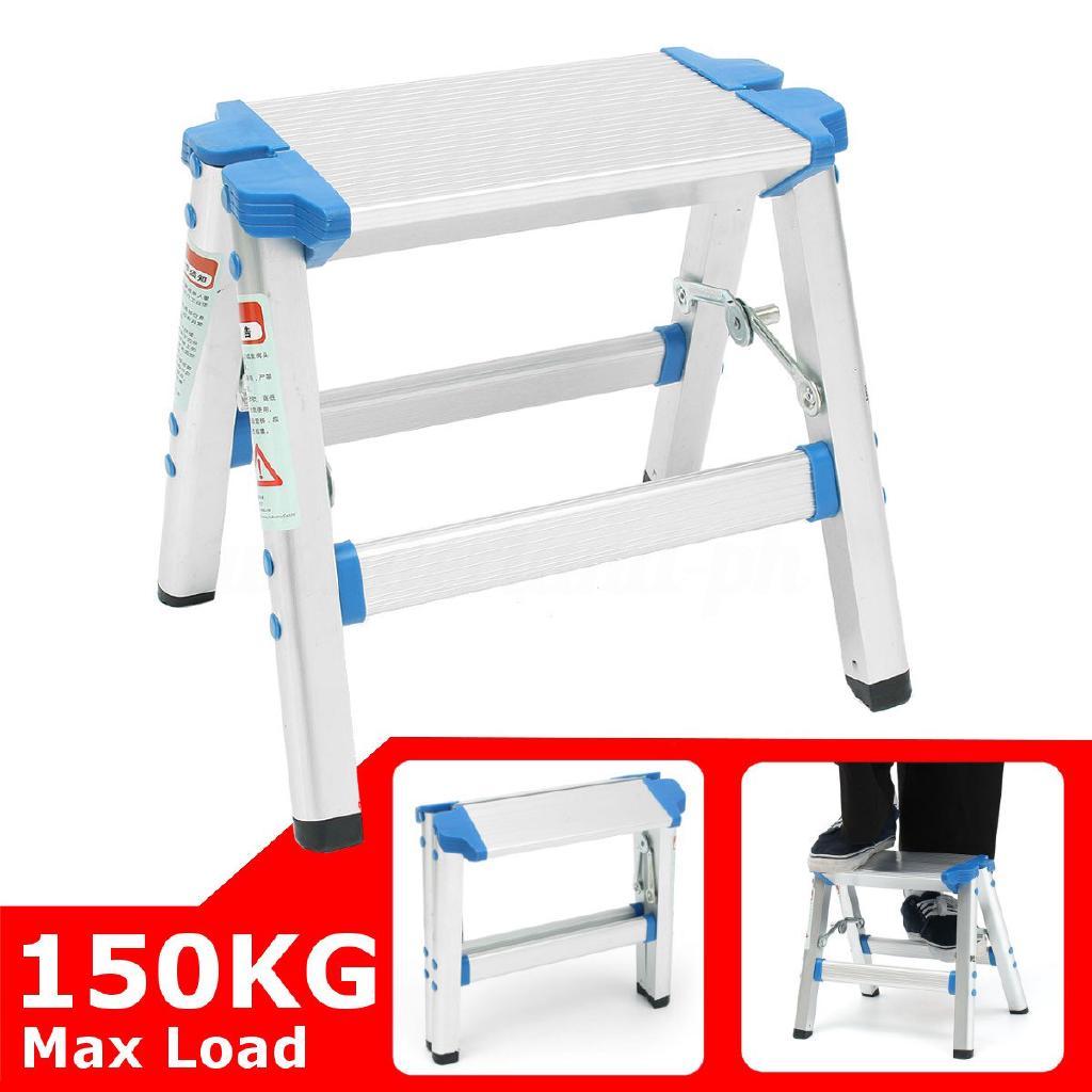 1 step nonslip ladder folding platform work stool aluminum