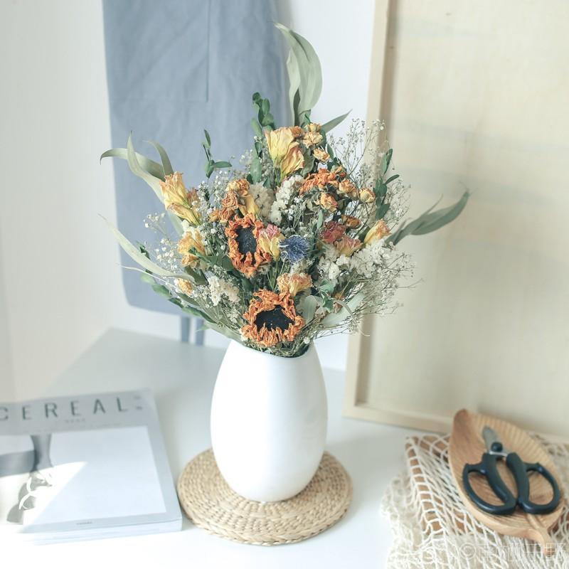 Natural Plants Look Dried Flowers Bouquets Home Art Living Room Decoration 20Pcs