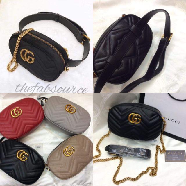 7f760d74513 Gucci Belt Bag 2-Way Sling Chain Strap JS1503