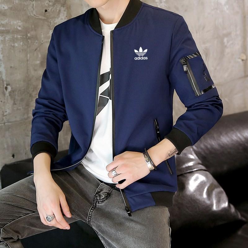adidas clover coat cargo stand collar jacket sport windbreak