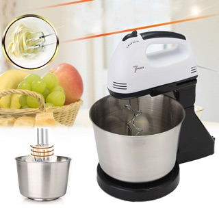 7Speed Hand Mixer w Stand Mixer With Stainless Steel Bowl