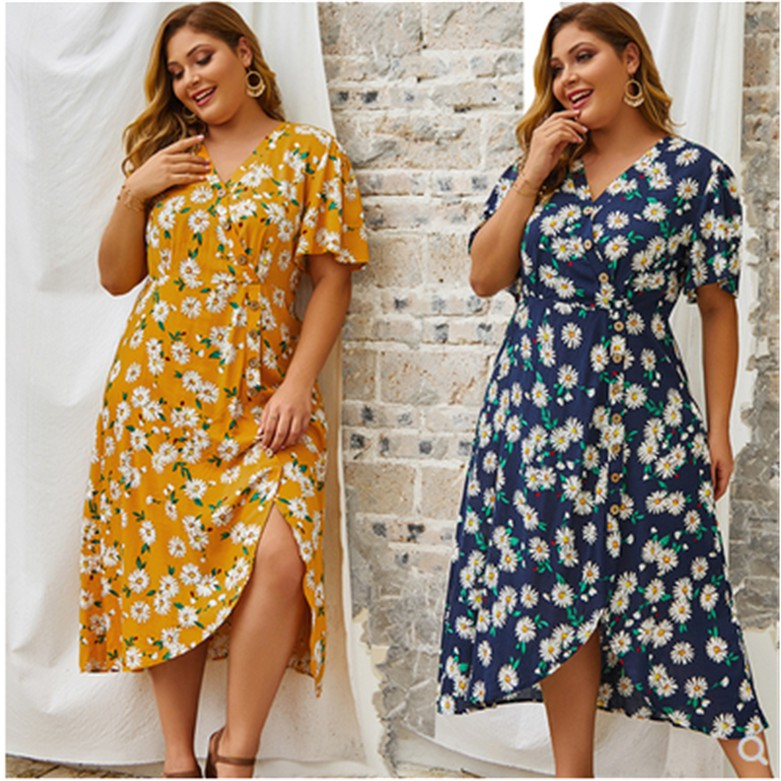 Fat Women Long Dress Plus Size Party Gown Lady Shopee Philippines