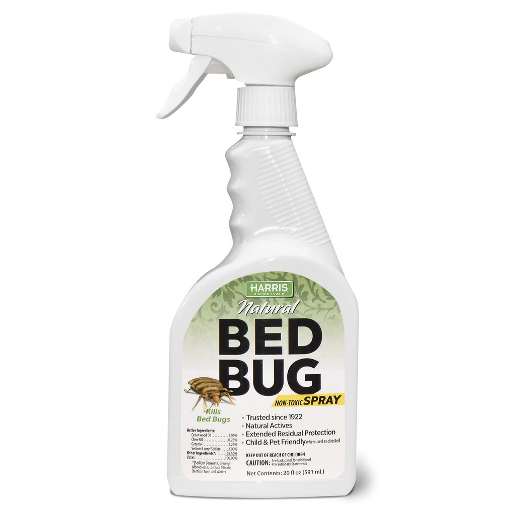 Harris Natural Bed Bug Killer Fast Acting 20 Oz Spray Shopee Philippines