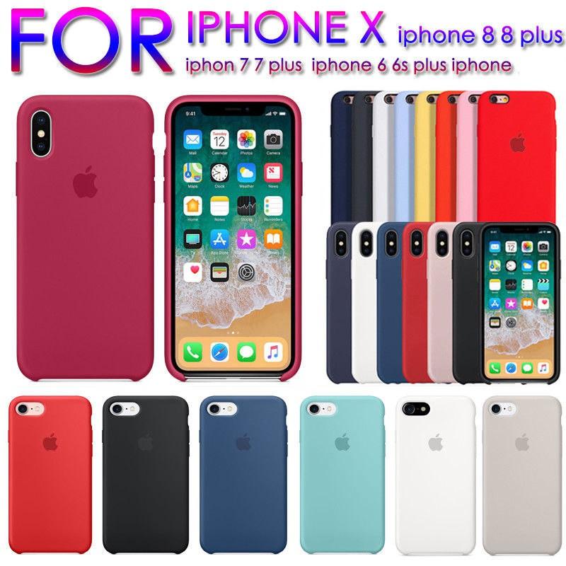 buy online 07ec7 6ef25 Original Apple iPhone7 8plus Case Liquid Silicone Case