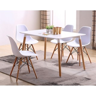 Stylish Dining Set Dining Table With 4 Dining Chairs Shopee Philippines