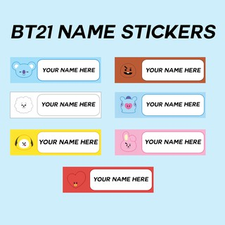 COD! BTS - BT21 Personalized Name Stickers | Shopee Philippines