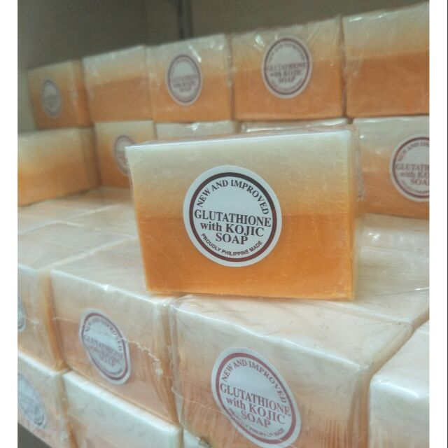 NEW AND LMPROVED GLUTATHIONE with KOJIC SOAP 135g