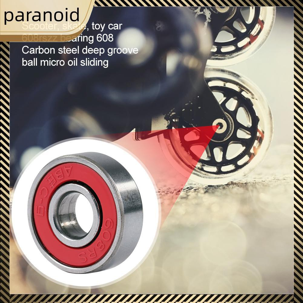 10pcs 8x22x7mm 608rszz Bearing Deep Groove Pulley Wheel for Skating Shoes